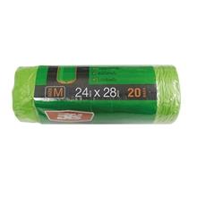รูปภาพของ ถุงขยะม้วน แบบย่อยสลาย Hero สีเขียว ขนาด 24 x 28 นิ้ว ( บรรจุ 20 ใบ )