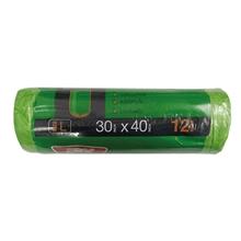 รูปภาพของ ถุงขยะม้วน แบบย่อยสลาย Hero สีเขียว ขนาด 30 x 40 นิ้ว ( บรรจุ 12 ใบ )