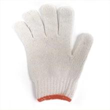 รูปภาพของ ถุงมือผ้าทอ 6 ขีด สีขาวขอบส้ม (แพ็ค 12 คู่)