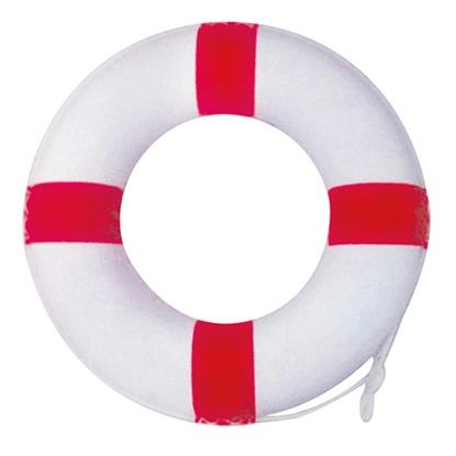 รูปภาพของ ห่วงชูชีพ Al-Life ขนาด 24 นิ้ว สีขาวคาดผ้าใบสีแดง