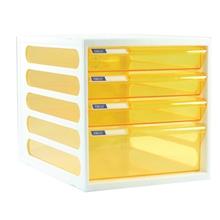 รูปภาพของ ตู้เอกสาร ออร์ก้า CFB-4 4 ชั้น โครงขาว ลิ้นชักเหลืองใส