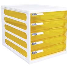 รูปภาพของ ตู้เอกสาร ออร์ก้า CFB-5 5 ชั้น โครงขาว ลิ้นชักเหลืองใส