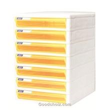 รูปภาพของ ตู้เอกสาร ออร์ก้า TCB-7 7 ชั้น โครงขาว ลิ้นชักเหลืองใส