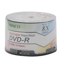 รูปภาพของ แผ่น DVD-R PRINCO 8.5GB  (แพ็ค 50 แผ่น)
