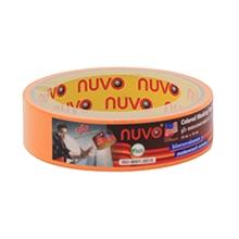 รูปภาพของ กระดาษกาวย่น Nuvo 1 นิ้ว x 10 หลา สีส้ม