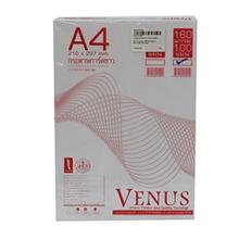 รูปภาพของ กระดาษการ์ดสี วีนัส 160g A4 สีขาว(แพ็ค 100 แผ่น)