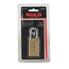 รูปภาพของ กุญแจแบบล็อคเลข SOLO 89-28 คอยาว 28 มม.