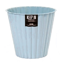 รูปภาพของ ถังขยะกลมลายจีบไม่มีฝา สแตนดาร์ด RW9277 (5 ลิตร) สีฟ้า