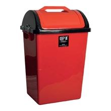 รูปภาพของ ถังขยะสี่เหลี่ยมฝาสวิง สแตนดาร์ด RW9258 (40ลิตร) สีแดง