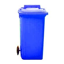 รูปภาพของ ถังขยะสี่เหลี่ยม 120 ลิตร 2 ล้อ ฝาเจาะช่องทิ้ง สีน้ำเงิน
