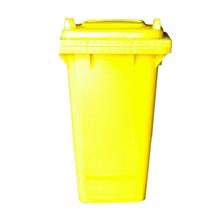 รูปภาพของ ถังขยะสี่เหลี่ยม 240 ลิตร 2 ล้อ ฝาเรียบ สีเหลือง