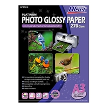รูปภาพของ กระดาษอิงค์เจ็ทโฟโต้เนื้อกระดาษมันเงา HI-JET NP273-10  270g A3(แพ็ค 10 แผ่น)