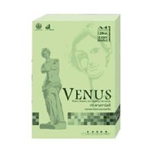 รูปภาพของ กระดาษสีถ่ายเอกสาร วีนัส 120g A4 สีเขียว (แพ็ค 200 แผ่น)