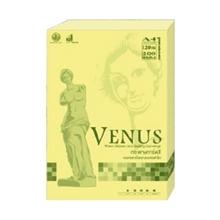 รูปภาพของ กระดาษสีถ่ายเอกสาร วีนัส 120g A4 สีเหลือง (แพ็ค 200 แผ่น)