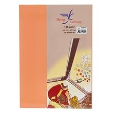 รูปภาพของ กระดาษสีถ่ายเอกสาร ฟลายอิ้ง 17 120แกรม A4 สีส้ม (แพ็ค100แผ่น)