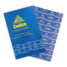 รูปภาพของ กระดาษคาร์บอน เดลต้า 21x33ซม. น้ำเงิน (100แผ่น)