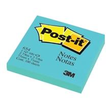 """รูปภาพของ Post-it 3M No.654BE 3x3"""" สีฟ้า"""