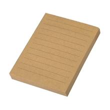 """รูปภาพของ กระดาษคราฟท์ Sticky Note แบบมีเส้น ขนาด 3""""x4"""" 100 แผ่น/เล่ม"""