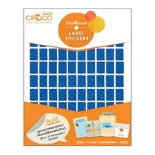 รูปภาพของ ป้ายสติ๊กเกอร์สี สี่เหลี่ยม Croco 10x15 มม.น้ำเงิน (900 ดวง) บรรจุ 10 แผ่น