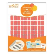 รูปภาพของ ป้ายสติ๊กเกอร์สี สี่เหลี่ยม Croco 10x15 มม.แดง (900 ดวง) บรรจุ 10 แผ่น