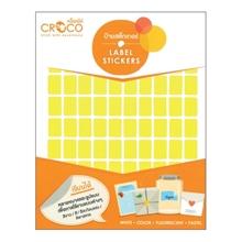 รูปภาพของ ป้ายสติ๊กเกอร์สี สี่เหลี่ยม Croco 10x15 มม.เหลือง (900 ดวง) บรรจุ 10 แผ่น