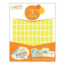 รูปภาพของ ป้ายสติ๊กเกอร์สีสะท้อนแสง สี่เหลี่ยม เหลือง Croco 10x15 มม. (900 ดวง) บรรจุ 10 แผ่น