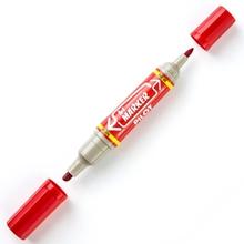 รูปภาพของ ปากกาเคมี 2 หัว ไพล็อต BI สีแดง