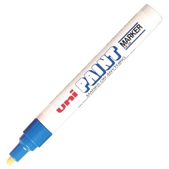 รูปภาพของ ปากกาเพ้นท์ ยูนิ รุ่น PX-20 สีฟ้า