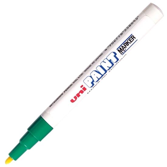 รูปภาพของ ปากกาเพ้นท์ ยูนิ รุ่น PX-21 สีเขียว