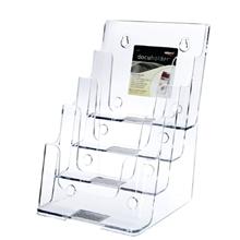 รูปภาพของ กล่องใส่โบรชัวร์ ดีเฟลคโต้ 77901TL 4ชั้น A5 16.5x15.9x25.4ซม.