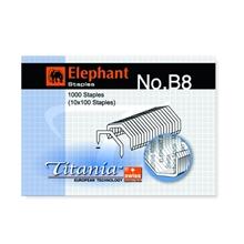 รูปภาพของ ลวดเย็บกระดาษ ตราช้าง Titania M8-1M (B8) 1000ลวด