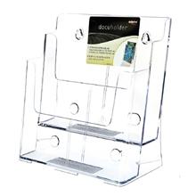 รูปภาพของ กล่องใส่โบรชัวร์ ดีเฟลคโต้ 77865-TL 2 ช่อง 2ชั้น A4