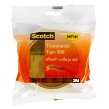 """รูปภาพของ เทปใส SCOTCH #500 1""""x36y แกน 3"""""""