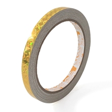 รูปภาพของ เทป PVC เส้นเลเซอร์Croco 9มมx9หลา ทอง