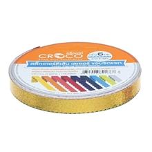 รูปภาพของ เทป PVCเส้นเลเซอร์ซิกแซกCroco6มมx5หลาทอง