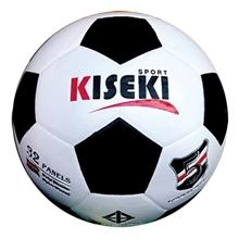 รูปภาพของ ลูกฟุตบอลหนังอัด PVC KISEKI เบอร์ 5 สีขาว/ดำ