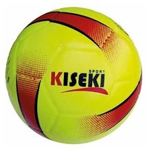 รูปภาพของ ลูกฟุตบอลหนังอัด PVC KISEKI เบอร์ 5 สีเหลืองมะนาวสะท้อนแสง