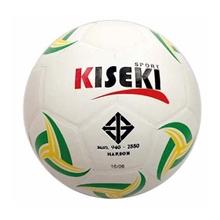 รูปภาพของ ลูกฟุตบอลหนังอัด PVC KISEKI เบอร์ 5 (ลายกราฟฟิก) ลายทวิส สีพื้นขาว ลายเขียว/เหลือง
