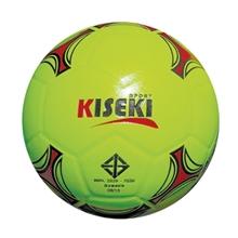 รูปภาพของ ลูกฟุตซอลหนังอัด PVC KISEKI เบอร์ 3.7 (สะท้อนแสง) สีเหลืองมะนาว
