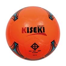รูปภาพของ ลูกฟุตซอลหนังอัด PVC KISEKI เบอร์ 3.7 (สะท้อนแสง) สีส้ม