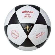 รูปภาพของ ลูกฟุตซอลหนังอัด Synthetic Leather MIKASA รุ่น SWL62V เบอร์ 3.5 สีขาว/ดำ