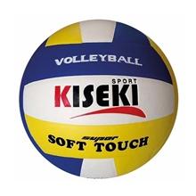 รูปภาพของ ลูกวอลเล่ย์บอลหนังอัด PVC KISEKI เบอร์ 5 สีน้ำเงิน/เหลือง/ขาว