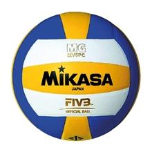 รูปภาพของ ลูกวอลเล่ย์บอลหนังอัด Synthetic Leather MIKASA รุ่น MV5PC เบอร์ 5 สีน้ำเงิน/เหลือง/ขาว