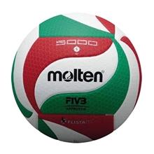 รูปภาพของ ลูกวอลเล่ย์บอลหนังอัด PU รุ่นแข่งขันนานาชาติ (FIVB Approved) molten รุ่น V5M5000 เบอร์ 5 สีขาว/แดง/เขียว