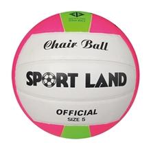 รูปภาพของ แชร์บอลหนัง PVC SPORT LAND เบอร์ 5 สีขาว/ชมพู/เขียว