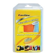 รูปภาพของ ผ้าไมโครไฟเบอร์ Karshine ขนาด 40x40 ซม. สีเหลือง/ส้ม/ฟ้า (แพ็ค 3 ผืน)