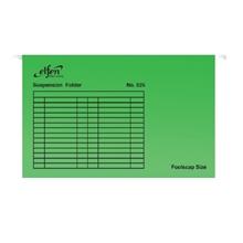 รูปภาพของ แฟ้มแขวน เอลเฟ่น 555 F4 สีเขียวสด(แพ็ค 10 เล่ม)