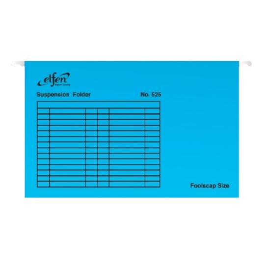 รูปภาพของ แฟ้มแขวน เอลเฟ่น 525 F4 สีน้ำเงิน (แพ็ค 10 เล่ม)