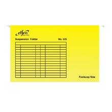 รูปภาพของ แฟ้มแขวน เอลเฟ่น 525 F4 สีเหลือง (แพ็ค 10 เล่ม)