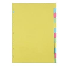 รูปภาพของ อินเด็กซ์กระดาษการ์ด ใบโพธิ์ 12 หยัก A4 คละสี